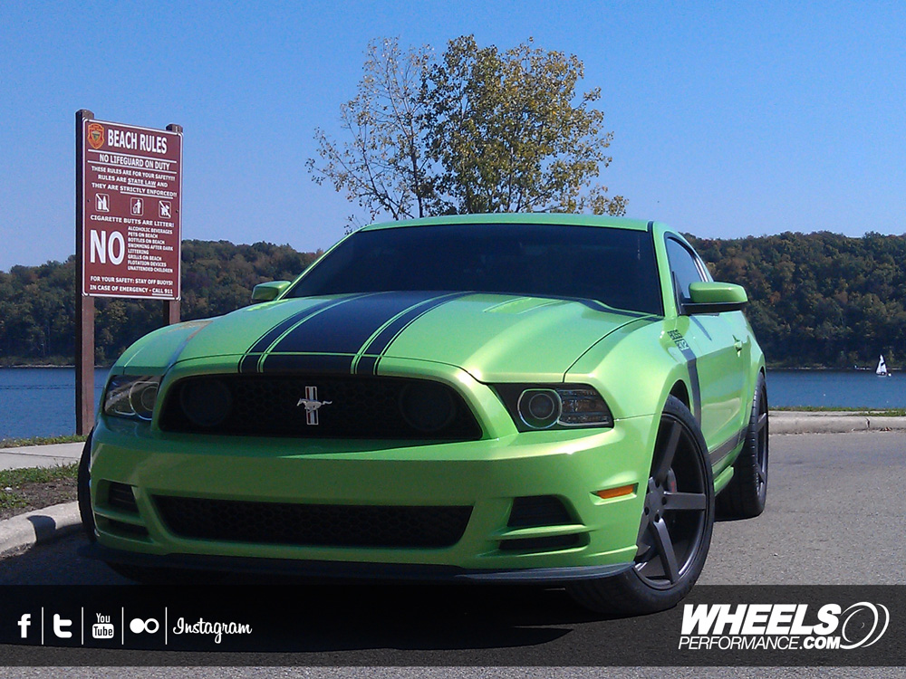 "OUR CLIENT'S FORD MUSTANG BOSS 302 WITH 20"" VOSSEN CV3 WHEELS"