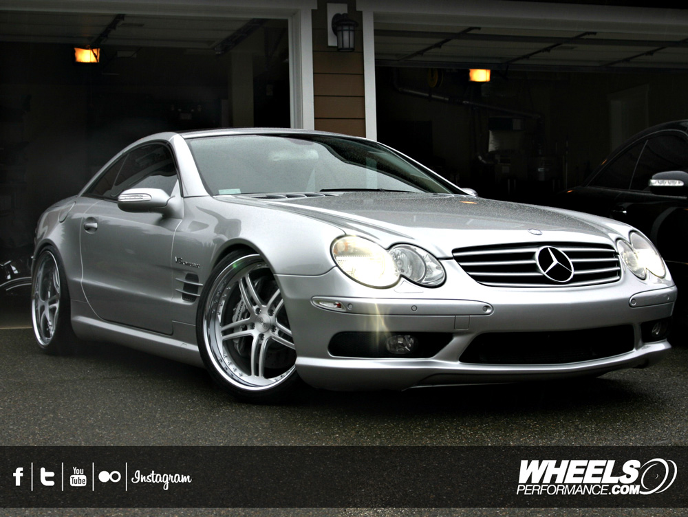"OUR CLIENT'S MERCEDES SL55 AMG WITH 20"" ISS FORGED COMPLEX 5 WHEELS"