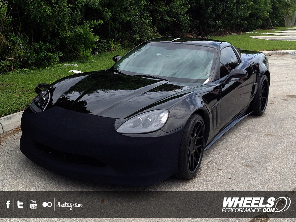 "OUR CLIENT'S CHEVROLET CORVETTE C6 GRAND SPORT WITH 19/20"" COR PRECISE CONCAVE WHEELS"