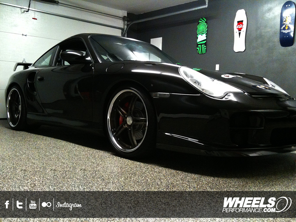 "OUR CLIENT'S PORSCHE 996 TURBO WITH 19"" 360 FORGED SPEC 5IVE WHEELS"
