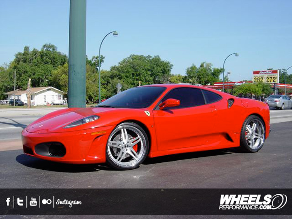 "OUR CLIENT'S FERRARI F430 WITH 20"" VELLANO VSH WHEELS"