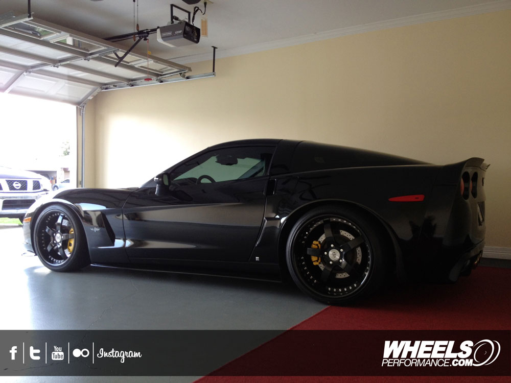 "OUR CLIENT'S CHEVROLET CORVETTE C6 WITH 19/20"" STRASSE FORGED S5 WHEELS"