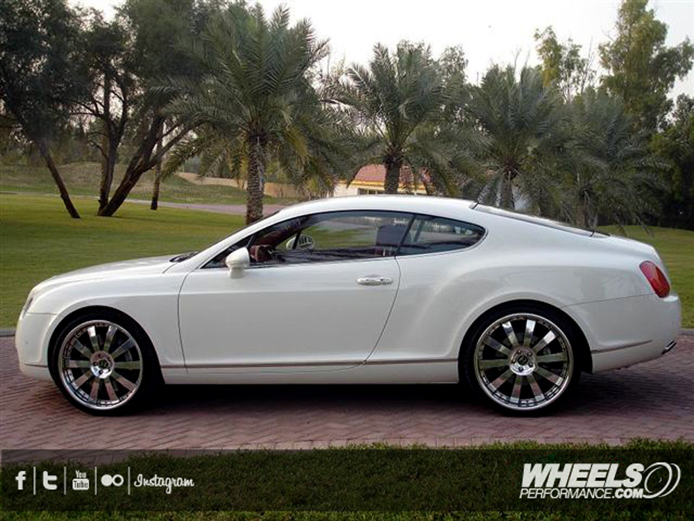 "OUR CLIENT'S BENTLEY GT WITH 22"" HRE 943R WHEELS"