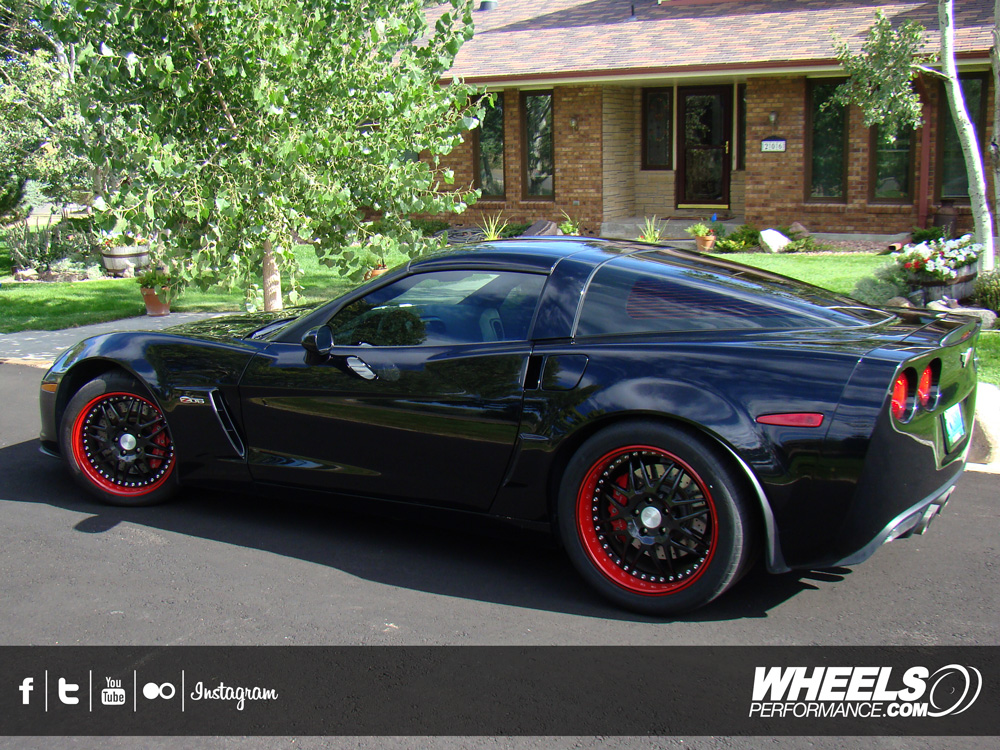 "OUR CLIENT'S CHEVROLET CORVETTE C6 Z06 WITH 18/19"" MODULAR CONCEPT WHEELS"