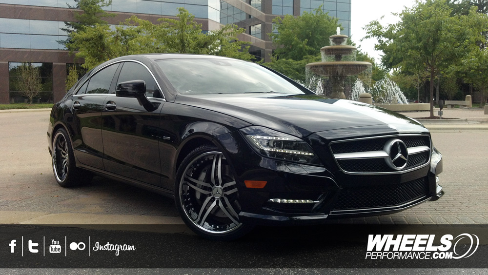 "OUR CLIENT'S MERCEDES CLS550 WITH 20"" COR BRAVA WHEELS"