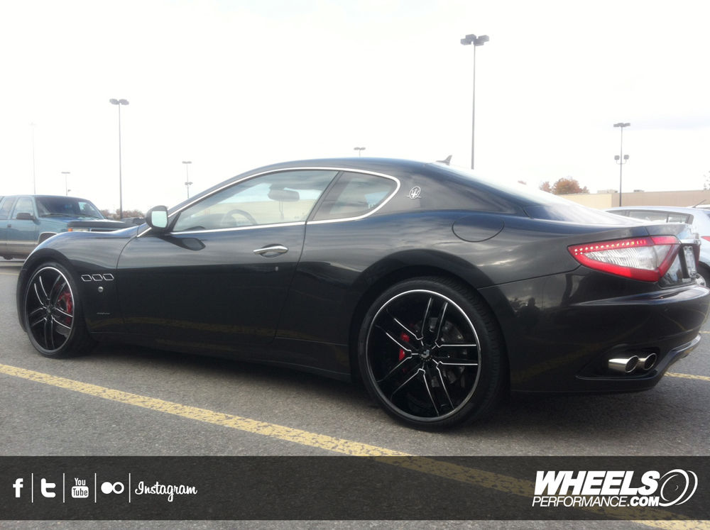 "OUR CLIENT'S MASERATI GRAN TURISMO WITH 21/22"" FORGIATO VIZZO WHEELS"