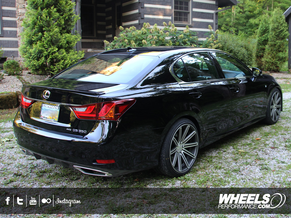 "OUR CLIENT'S LEXUS GS350 WITH 20"" VOSSEN CV4 WHEELS"