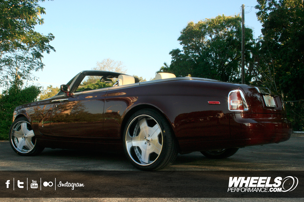 "OUR CLIENT'S ROLLS ROYCE PHANTOM DROPHEAD WITH 24"" FORGIATO ALNEATO WHEELS"