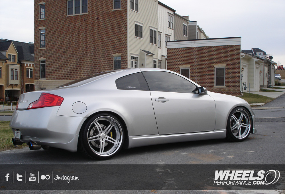 "OUR CLIENT'S INFINITI G35 WITH 20"" 360 FORGED SPEC 5IVE WHEELS"