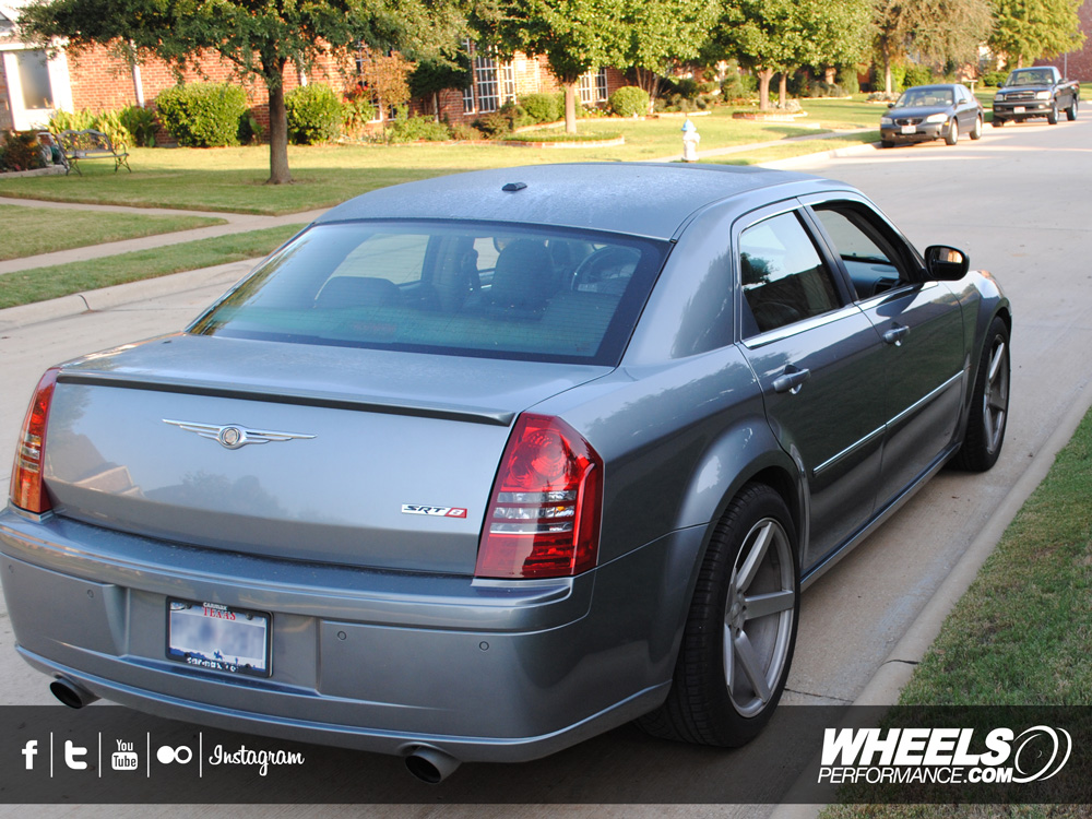 "OUR CLIENT'S CHRYSLER 300C SRT-8 WITH 20"" VOSSEN CV3 WHEELS"