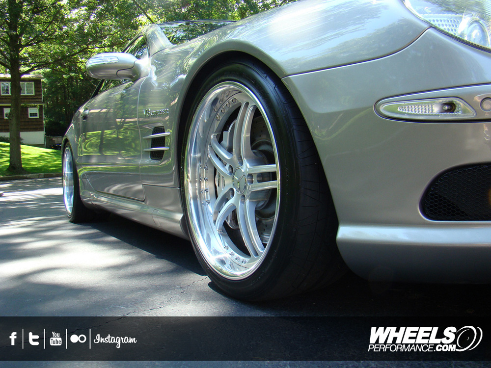 "OUR CLIENT'S MERCEDES SL55 AMG WITH 19"" ISS FORGED COMPLEX 5 WHEELS"