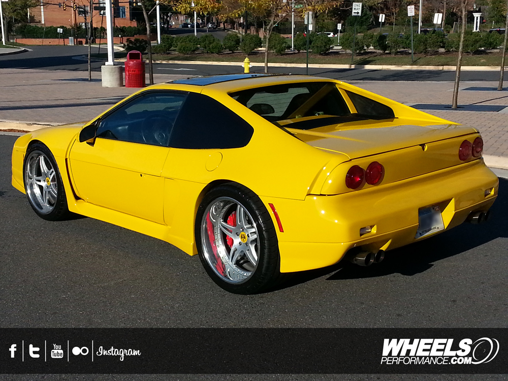 "OUR CLIENT'S PONTIAC FIERO WIDEBODY WITH 19"" FORGELINE SP3P WHEELS"