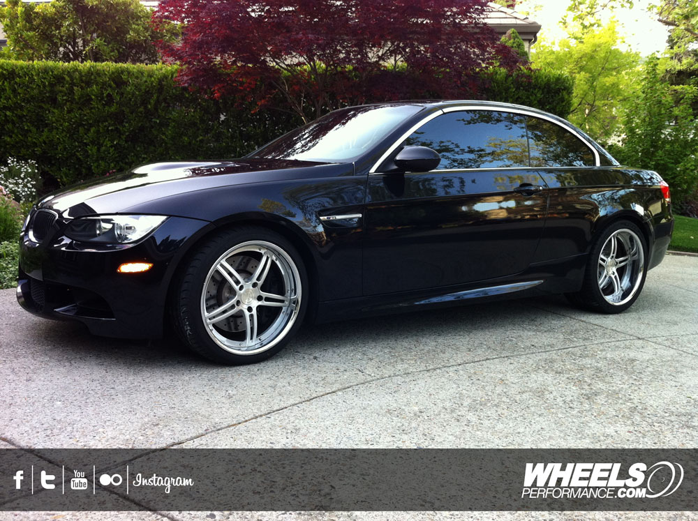"OUR CLIENT'S BMW M3 E93 WITH 19"" 360 FORGED SPEC 5IVE WHEELS"