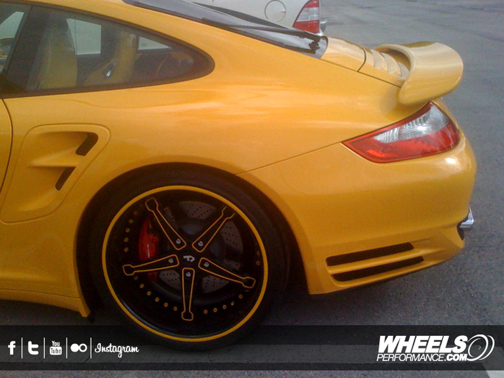 "OUR CLIENT'S PORSCHE 997 TURBO WITH 20"" FORGIATO MARTELLATO WHEELS"