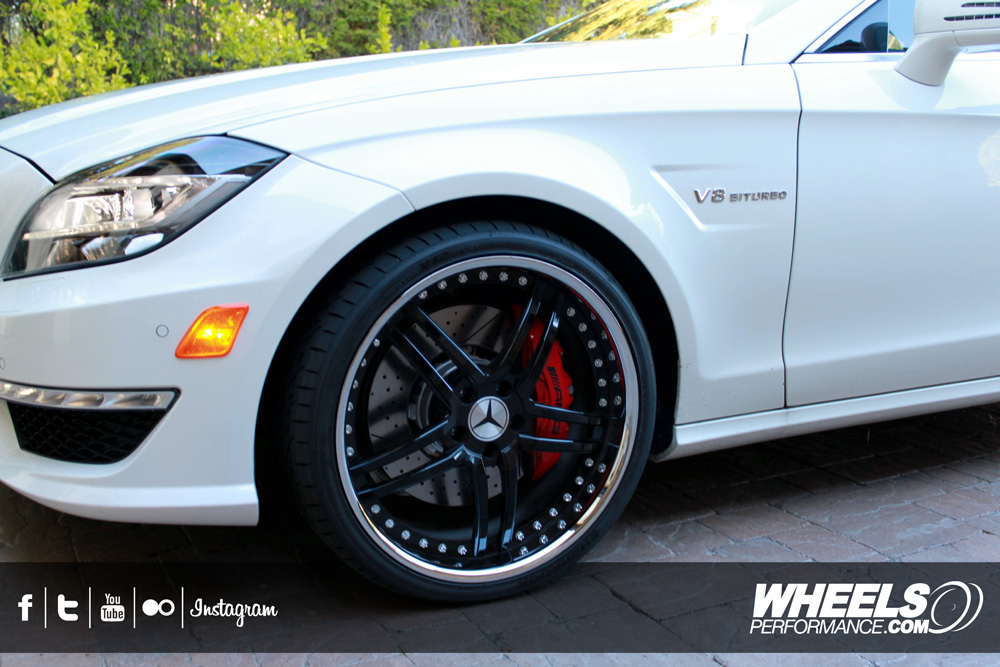 """OUR CLIENT'S MERCEDES CLS63 AMG WITH 20"""" MODULAR CONCEPT 03 WHEELS."""