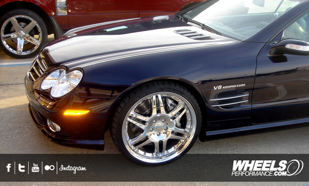 "OUR CLIENT'S MERCEDES SL55 AMG WITH 20"" BRABUS MONOBLOCK VI 2-PIECE WHEELS"