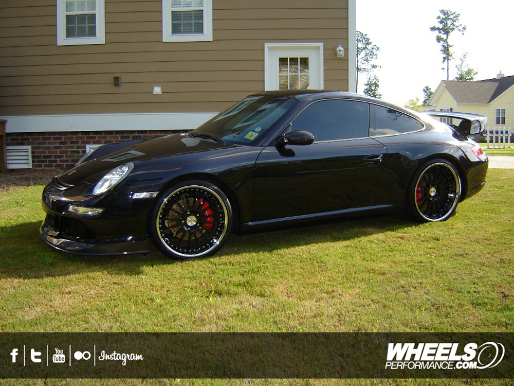 "OUR CLIENT'S PORSCHE 997 WITH 20"" AVUS M-02 WHEELS"