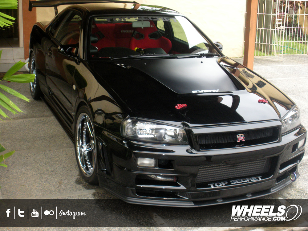 "OUR CLIENT'S NISSAN SKYLINE GT-R R34 WITH 19"" ASANTI AF-157 WHEELS"