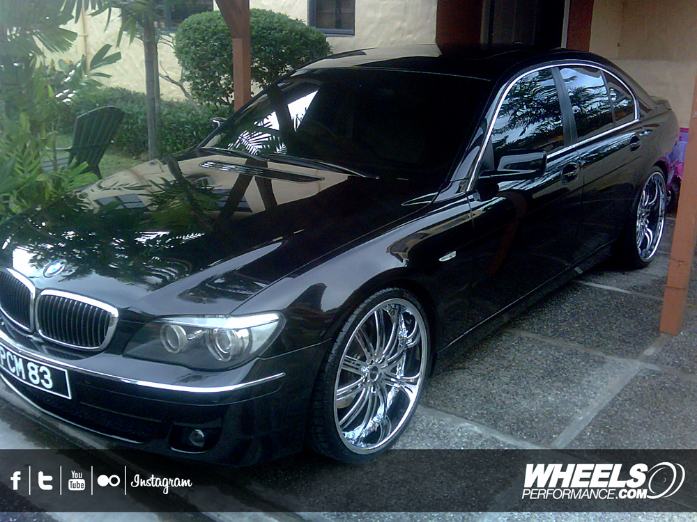 "OUR CLIENT'S BMW 750Li WITH 22"" MHT FORGED MIRAGE WHEELS"