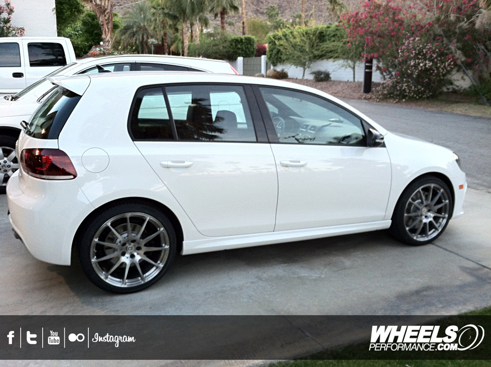 "OUR CLIENT'S VW GOLF R WITH 19"" HRE P43 WHEELS"