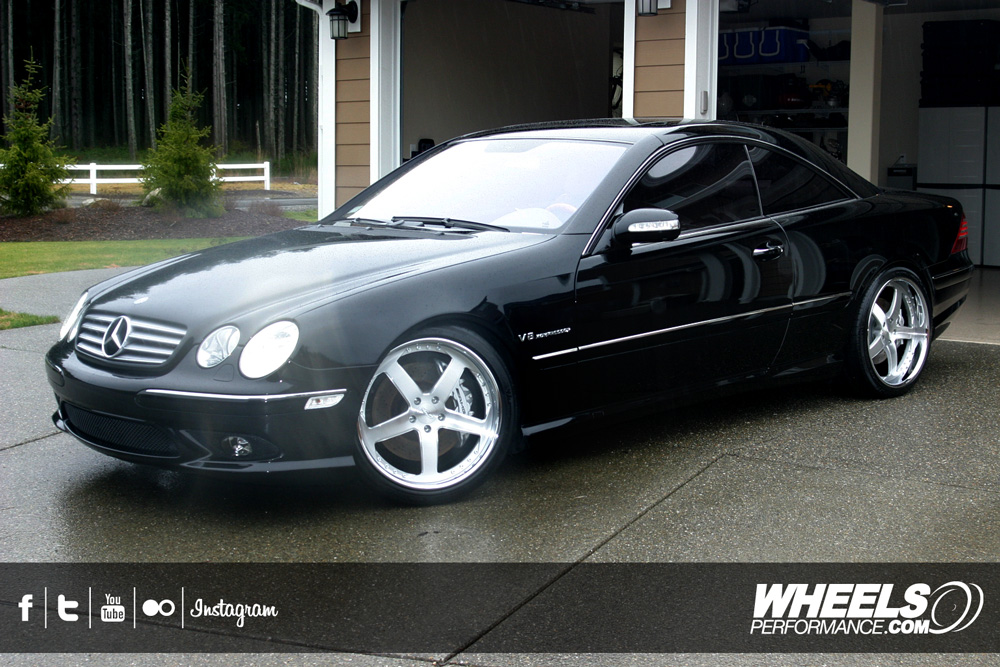 "OUR CLIENT'S MERCEDES CL55 AMG WITH 20"" ISS FORGED SIMPLEX 5 WHEELS"
