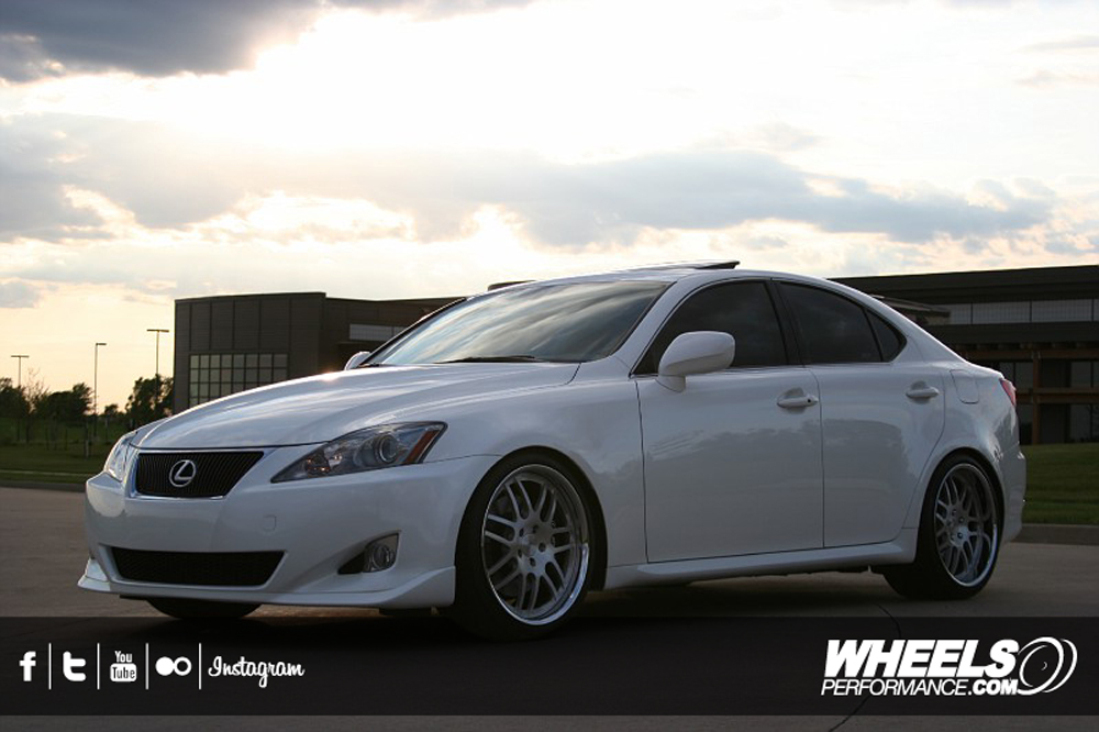 "OUR CLIENT'S LEXUS IS350 WITH 19"" ISS FORGED SPIA WHEELS"