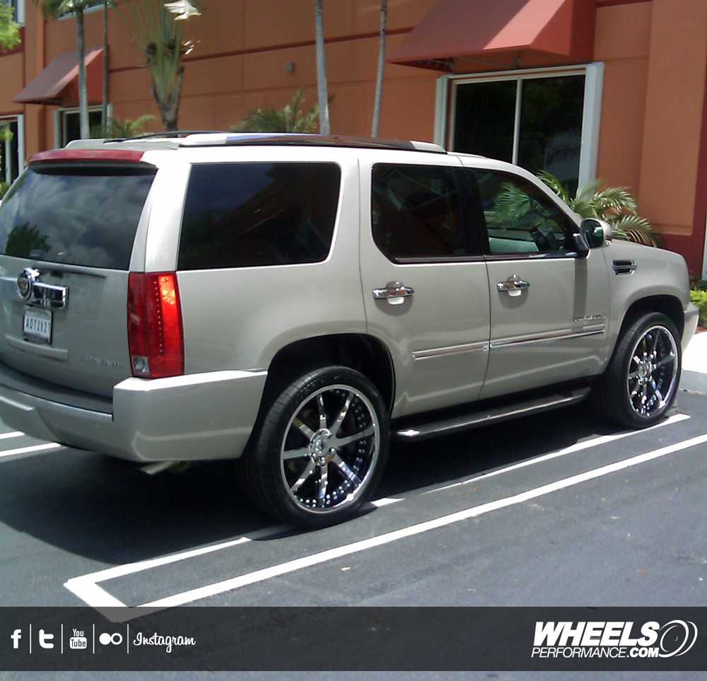 "OUR CLIENT'S CADILLAC ESCALADE WITH 24"" ASANTI AF-158 WHEELS"