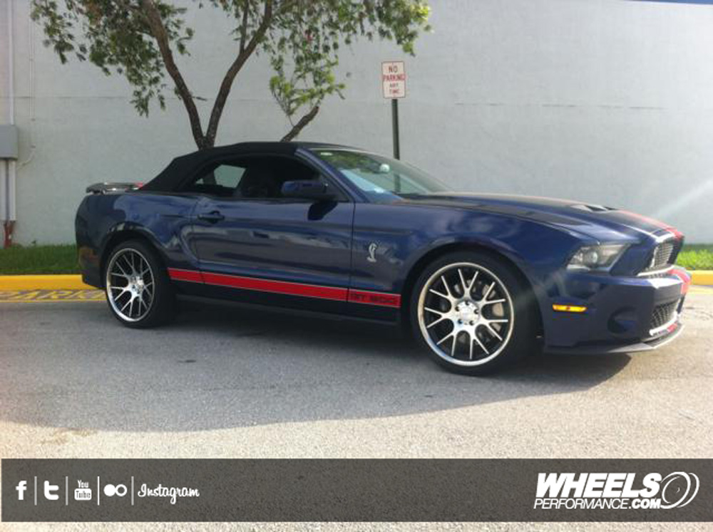 "OUR CLIENT'S SHELBY GT500 WITH 20"" VOSSEN CV2 WHEELS"