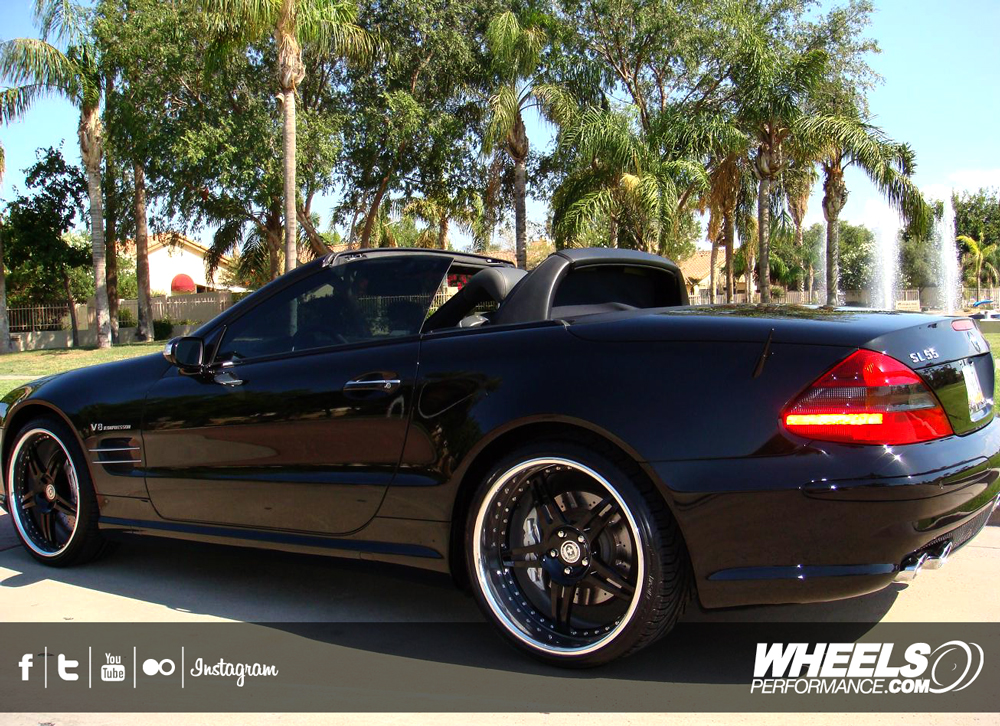 "OUR CLIENT'S MERCEDES SL55 AMG WITH 20"" HRE 597R WHEELS"