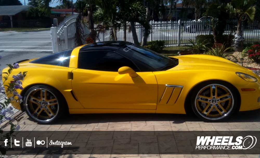 "OUR CLIENT'S CHEVROLET CORVETTE C6 GRANDSPORT WITH 20/21"" FORGIATO ESTREMO WHEELS"