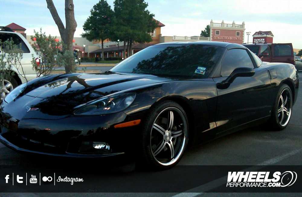 "OUR CLIENT'S CHEVROLET CORVETTE C6 WITH 19/20"" VOSSEN VVS-087 WHEELS"