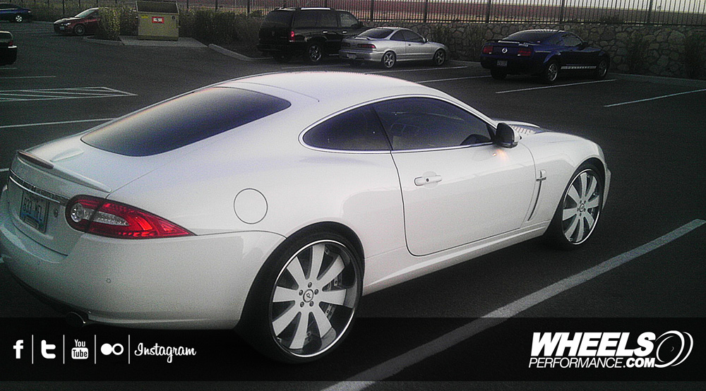 "OUR CLIENT'S JAGUAR XK WITH 22"" FORGIATO OTTO WHEELS"