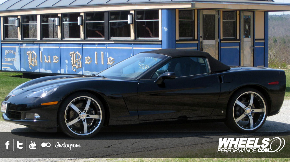 "OUR CLIENT'S CHEVROLET CORVETTE C6 WITH 20/22"" COR CONCORD WHEELS"