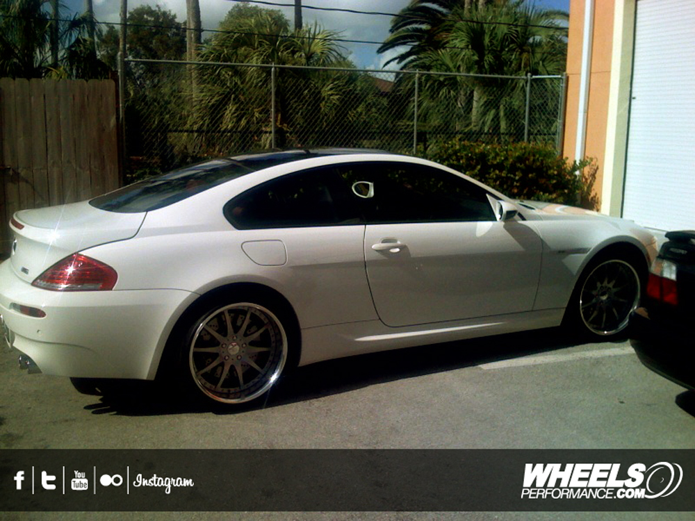 "OUR CLIENT'S BMW M6 WITH 20"" RADENERGIE R10 WHEELS"