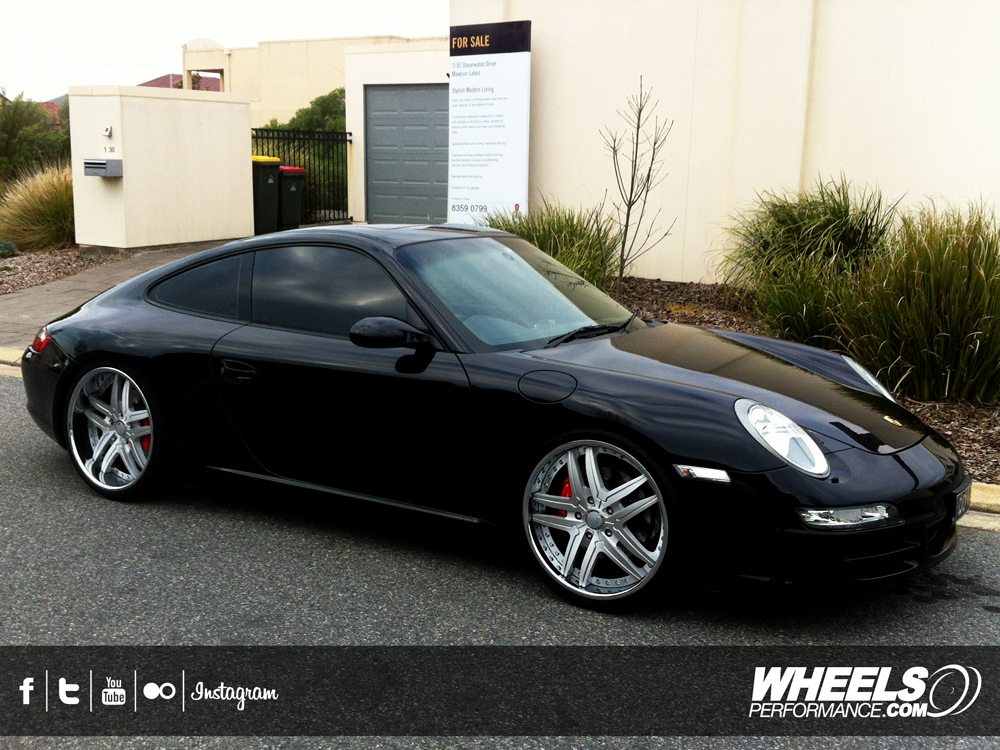 "OUR CLIENT'S PORSCHE 997 WITH 20"" FORGIATO VIZZO WHEELS"