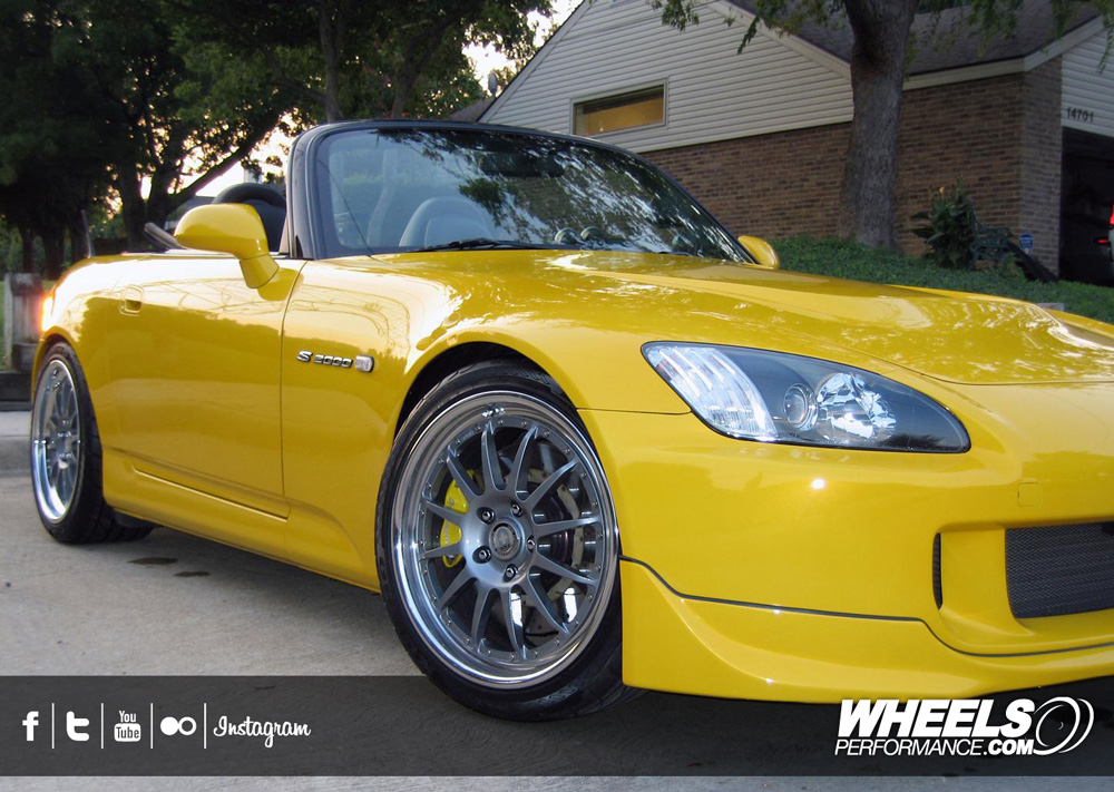 "OUR CLIENT'S HONDA S2000 WITH 18"" HRE C21 WHEELS"