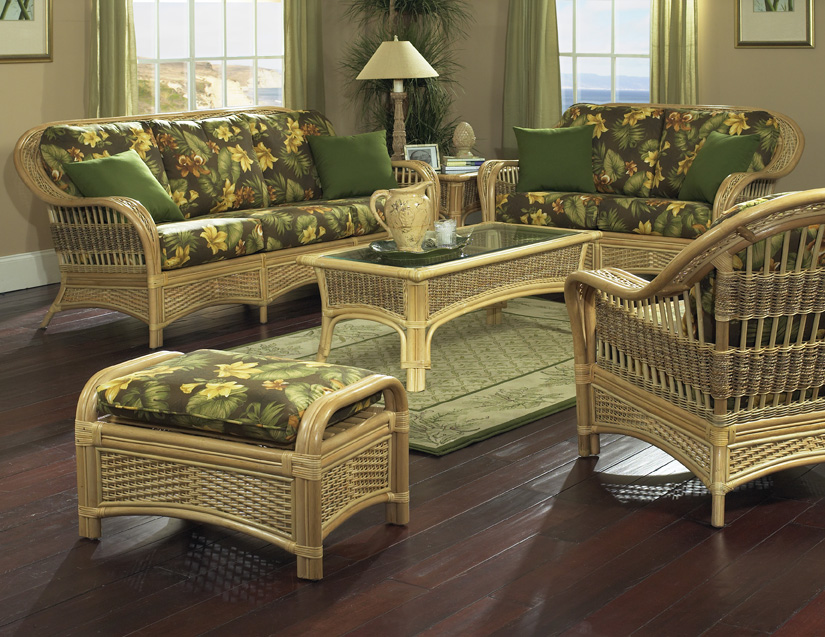 natural rattan furniture tropical breeze wicker for sunroom