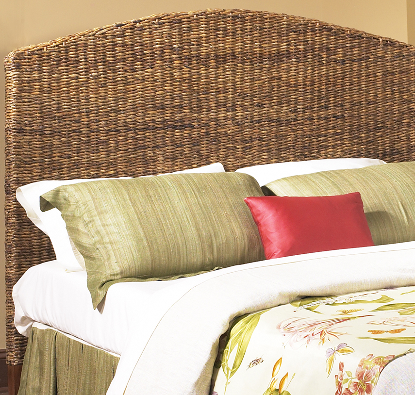 seagrass headboard full size - Wicker Bed Frame