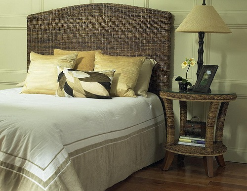 Wicker Seagrass Headboard Photo Wicker Paradise