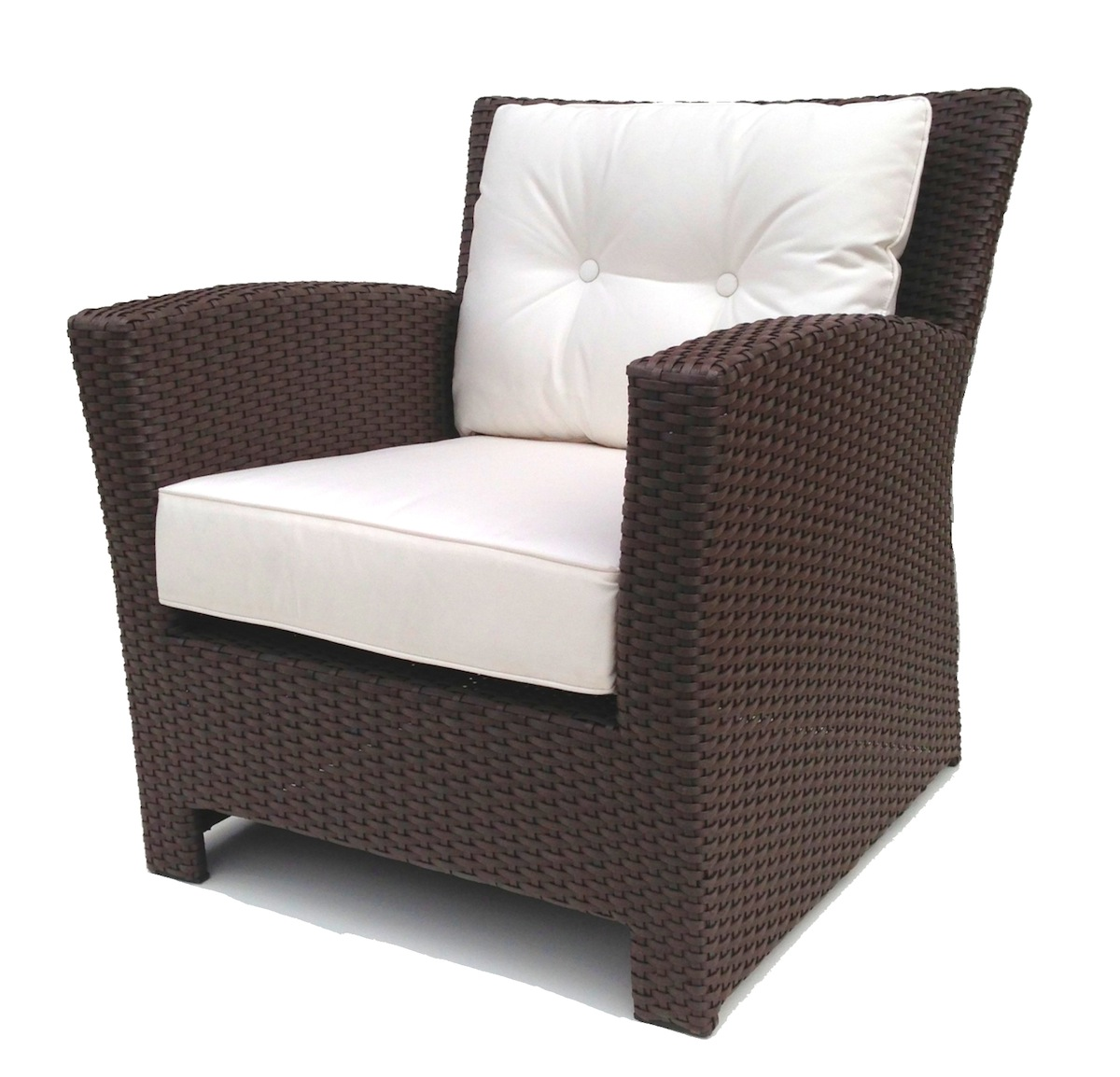 Outdoor wicker club chair for Rattan outdoor furniture