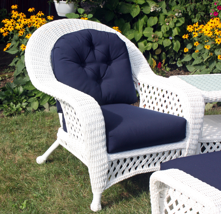 white outdoor wicker chair. Black Bedroom Furniture Sets. Home Design Ideas
