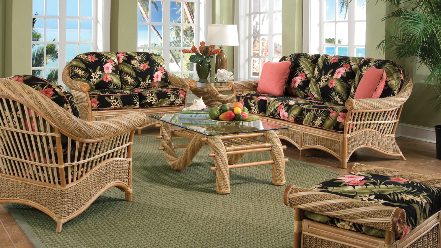 Tropical rattan furniture kona wicker paradise for Bedroom furniture hawaii