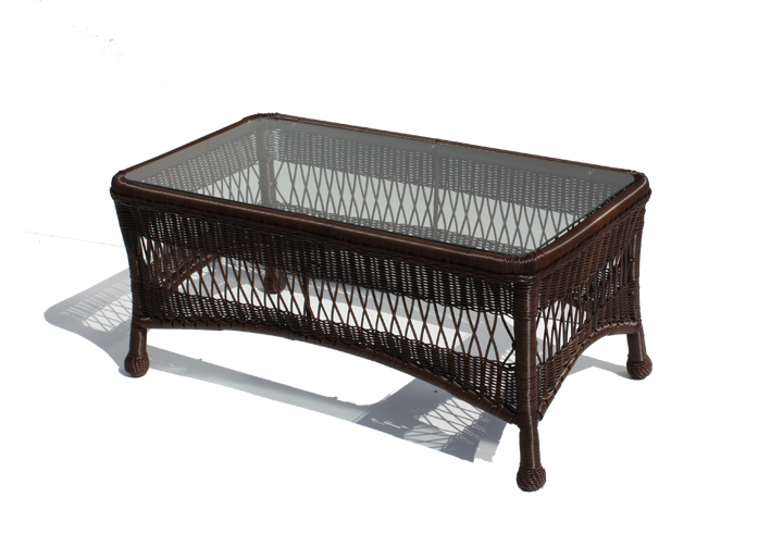 Outdoor Wicker Coffee Table   Princeton Shown In Chocolate Brown