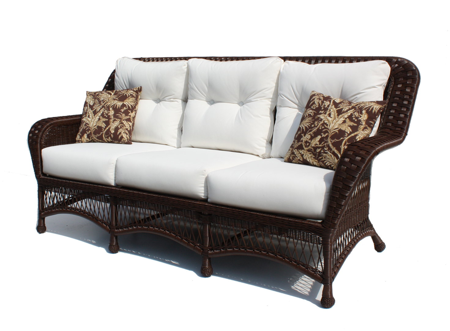 Outdoor Wicker Sofa Princeton Shown In Brown Wicker Paradise