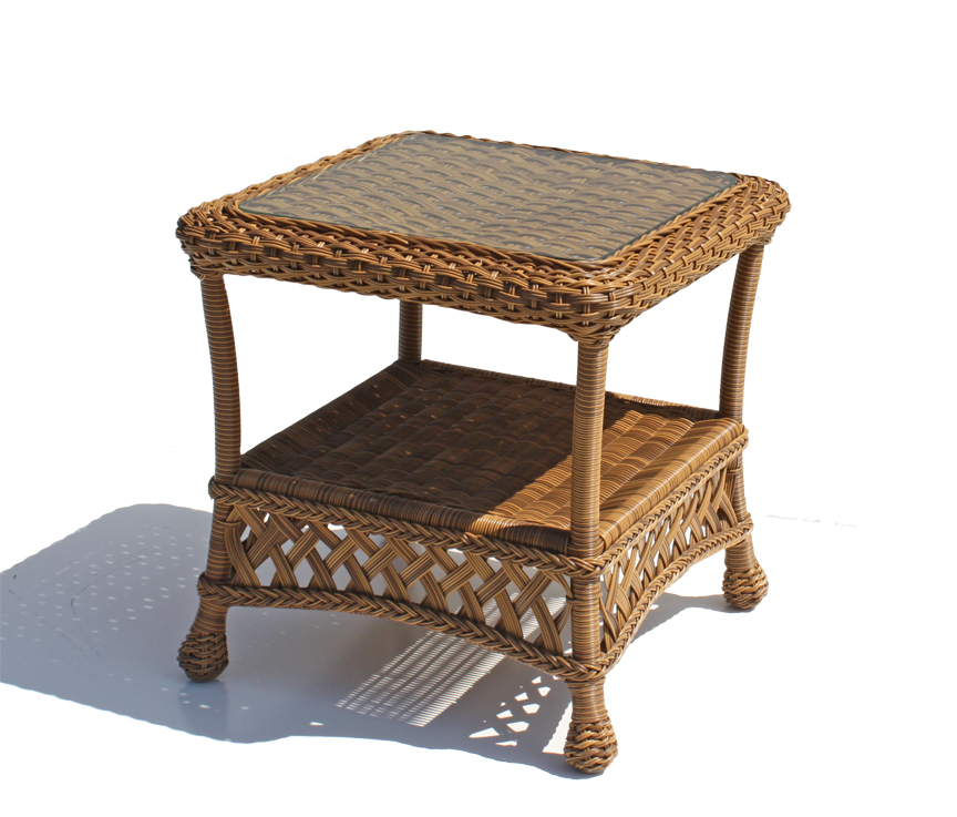 Outdoor Wicker End Table - Montauk Natural