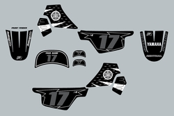 Yamaha PW50 Black and Gray Graphics kit Decals by Factory Ride