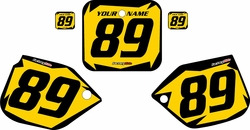 1988-1989 Honda CR250 Pre-Printed Backgrounds Yellow - Black Shock Series by FactoryRide