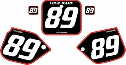 1988-1989 Honda CR250 Black Pre-Printed Background - Red Bold Pinstripe by FactoryRide