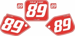 1988-1989 Honda CR250 Pre-Printed Backgrounds Red - White Pinstripe by FactoryRide
