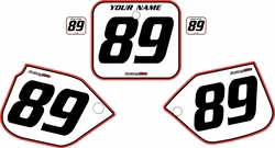 1988-1989 Honda CR250 Pre-Printed Backgrounds White - Red Pro Pinstripe by FactoryRide